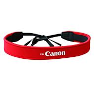 Camera Full Red Neoprene Neck Strap for Canon 50D 40D 30D 5D 450D 1000D