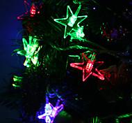 7M 30-светодиодный Luckystar-Shaped Красочный светодиодные Газа Fairy лампы для фестиваля украшения (220)