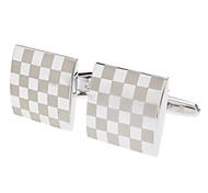 Недорогие -Z&X® высокой яркости градиент серебряные квадратных запонки