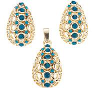 Japan and Korea Style Crystal Agate Jade Body Jewelry Earrings