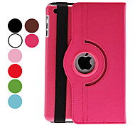 cheap -Case For iPad Mini 3/2/1 with Stand Auto Sleep / Wake 360° Rotation Full Body Cases Solid Color PU Leather for iPad Mini 3/2/1