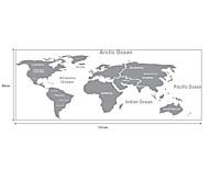 Наклейка на стену, карта мира
