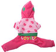 Недорогие -Собака Толстовки Одежда для собак Вышивка Розовый Костюм Для домашних животных