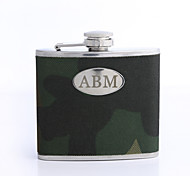 Personalized Gift Period 5oz PU Leather Capital Letters Flask