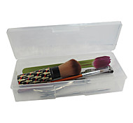 Clear Plastic Nail Art Tool Storage Box(19x7.5x4cm)
