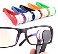 cheap -1 pc Eyeglasses Cleaner Portable / Multi-function for Portable / Multi-function Microfiber / ABS - Black / Orange / Yellow / Green / Blue