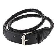 Men's Long Braided Leather Bracelet(Assorted Color)