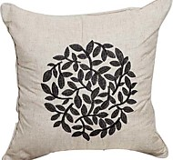 cheap -Country Solid Embroidery Linen Decorative Pillow Cover