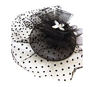cheap -Crystal Rhinestone Fabric Net Tiaras Fascinators 1 Wedding Special Occasion Party / Evening Headpiece