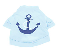 cheap -Dog Shirt / T-Shirt Dog Clothes Breathable Holiday Fashion Sailor Blue Costume For Pets