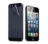 preiswerte -Displayschutzfolie Apple für iPhone 6s Plus iPhone 6 Plus iPhone SE / 5s / 5 iPhone SE/5s PET 10 Stücke Vorderer & hinterer