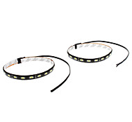 cheap -Waterproof 30cm 9W 18x5730SMD White LED Strip Light for Car (12V, 1-Pair)