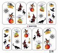 1PCS вода трансферная печать стикеры ногтя NO.15 (разных цветов)