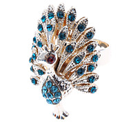 Women's Statement Rings Costume Jewelry Luxury Imitation Diamond Alloy Peacock Jewelry For Daily