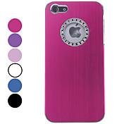 Hülle Für iPhone 5 Hülle Strass Rückseitenabdeckung Volltonfarbe Hart Aluminium für iPhone SE/5s iPhone 5
