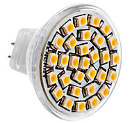 cheap -SENCART 3500 lm GU4(MR11) LED Spotlight MR11 30 leds SMD 3528 Warm White DC 12V