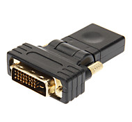 cheap -DVI 24+1 to HDMI V1.3 Male to Female Adapter Black Gold-Plated 360 Degree Revolve