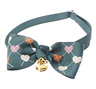 cheap -Cat Dog Collar Bow Tie With Bell Nylon Red Green Pink