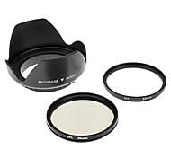 Insten UV + CPL 58mm + Gegenlichtblende für Canon G7 G9 S3IS S5 G10 S2 IS