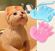 Gatto Cane Toelettatura Pennelli Set da bagno Massaggio Colore aleatorio