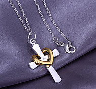 Недорогие -Крест Сердце Любовь Сердце Кулоны Сплав Кулоны , Спасибо Валентин