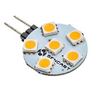 G4 6 leds SMD 5050 Blanco Cálido 60-80lm 3000K AC 12V