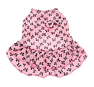cheap -Dog Dress Dog Clothes Bowknot Pink Cotton Costume For Pets