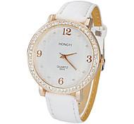 cheap -Women's Birds Pattern Dial PU Band Quartz Analog Wrist Watch (White) Cool Watches Unique Watches Fashion Watch Strap Watch