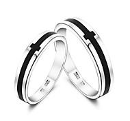 кольцо Ilver покрытием черного CRO любовника '(aorted Изе, пара в упаковке)