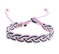 Vintage Style Colorful Knit Braided Cord Bracelet (Random Color)