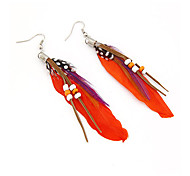 cheap -Women's Drop Earrings - Feather Alloy For Daily