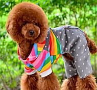 Cane Tuta Abbigliamento per cani Cotone Inverno Primavera/Autunno Romantico Casual Rigato Arancione Costume Per animali domestici