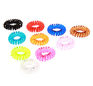 cheap -(10pcs)Fashion Multicolor Plastic Hair Ties For Kids(Orange,Green And More)