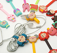 cheap -Cartoon Buckle Type Rubber Bobbin Winder(3PCS Different Style but Random Color)