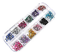 3000 Manucure Dé oration strass Perles Maquillage cosmétique Nail Art Design