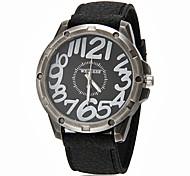 Мужская Большой круглый циферблат силиконовой лентой Кварцевые аналоговые наручные часы (разных цветов)