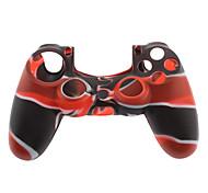 Силиконовый чехол для джойстика PS4, черный, красный