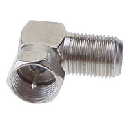 "cheap -F Male Plug to F Female Jack Right Angle Adapter Nickel 90 Degree Coaxial TV ""F"""