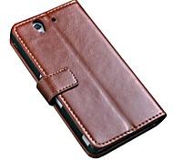 Люкс Ретро книга урожай Стиль Стенд аргументы за кожи бумажника Sony Xperia Z L36H