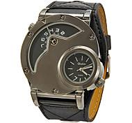 Недорогие -Муж. Армейские часы Кварцевый С двумя часовыми поясами PU Группа Кулоны Черный