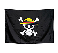 One Piece Straw Hat Pirates Jolly Roger Logo Cosplay Skull Flag