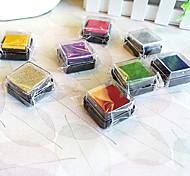 6 pezzi colorati in legno Imposta di bollo
