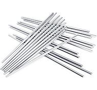 baratos -alta qualidade anti-derrapante em aço inoxidável pauzinhos (3 pares)