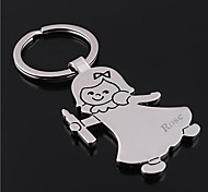 cheap -Personalized Engraved Gift Girl Shaped Keychain