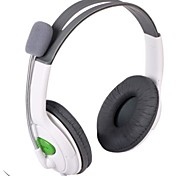 Stylish Stereo Headset Headphone for XBOX 360 - White (2.5mm Plug / 100cm)