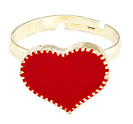 cheap -Women's Band Ring White Black Red Alloy Heart Adjustable Party Daily Costume Jewelry
