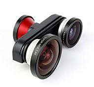 Fish Eye Macro Super Wide Self-timer Fisheye 4 in 1 Lens Camera for iPhone 5/5S