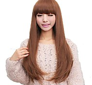 Capless Long Straight Synthetic Full Bang Wig 3 Colors Available