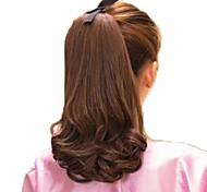 12 inch High Quality Synthetic Volume Horsetail Ponytail Curly Hairpiece 5 Colors Available