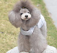 Gato Perro Camiseta Ropa para Perro Transpirable Bonito Casual/Diario Corazones Gris Disfraz Para mascotas